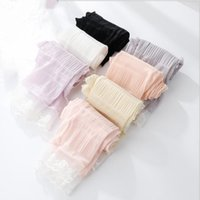 Wholesale ladies fashion lace gloves for sale - Group buy Fashion new thin summer lady lace sunscreen glove sleeve ice silk riding outdoor sports driving anti ultraviolet ice sleeve