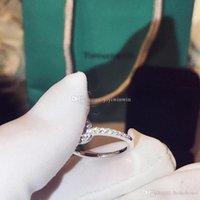 neue sterling silber ringe großhandel-neue stil frauen schmuck ringe 925 sterling silber diamant ring neue tif co marke luxus bague dame anello donna anel de senhora original box