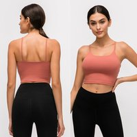 Wholesale sexy yoga for sale - Group buy LU Solid Color Women Yoga Bra Shirts Sports Vest Fitness Tops Sexy Underwear Lady Tops Yoga Sports Bra