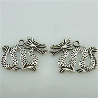 Wholesale 14467 Alloy Antique Silver Vintage Fairy Tale Dragon Pendant Charm Jewelry Fashion Jewelry Accessory DIY Part