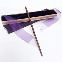 Wholesale harry potter wands hermione for sale - Group buy Newest Metal Iron Core Hermione Granger Wand of Harry Potter Magic Magical Wand Elegant Ribbon Gift Box Packing
