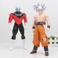 Wholesale big one toy resale online - BIG cm New Arrival Dragon Ball Z Super Ultra Instinct Goku Migatte no Goku Jiren PVC Action Figure Model Toys Y190529