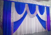 fundo cortina casamento branco venda por atacado-2019 Recém Projeto 3x6 metro Branco Cor Cortina de Pano de Fundo de Casamento \ Fundo de Estágio Preço Mais Barato Frete grátis