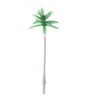 бонсай дерево искусственные растения оптовых-Моделирование Кокосовая пальма Real Touch Миниатюрные растения Кокосовое Многоразовое использование Искусственный бонсай Миниатюрные растения Красочные