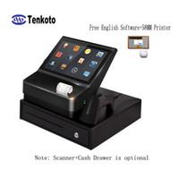 china touch screen android venda por atacado-O software livre da posição de NFC 10 polegadas requisitando o menu do quiosque da posição mini com impressora de 58MM China sistema de pagamento terminal do andróide da tela do toque de Android da China