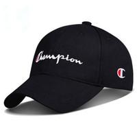 basebol alto venda por atacado-2019 Alta Qualidade Bordado Campeão Ajustável Snapback Boné de Beisebol Diamante Lazer Protetor Solar Hip Hop Boné de Beisebol Sunscreen hat
