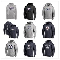 ingrosso magliette di potenza nera-Magliette da uomo Winnipeg Jets Fanatiche Magliette con marchio Black Ash Grigio Sport Hoody manica lunga Outdoor Wear New Hockey Hoodies Loghi economici con prezzo