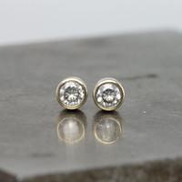 Wholesale moissanite carat earrings resale online - Solid K White Gold Carat ctw G H Push Back Stud Earrings Test Positive Moissanite Diamond For Women
