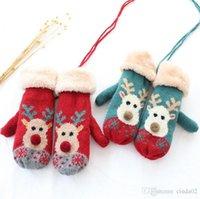 Wholesale womens knitted gloves for sale - Group buy Women Winter Gloves Christmas Elk Gloves Womens Gloves Full Finger Knitted Warm Glove Mittens Female