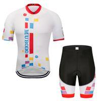 radsport-jackenjacken großhandel-2019 Sommer Kurzarm Radtrikot Set Atmungsaktive MTB Fahrradbekleidung Pro Team Bike Jersey Motorradjacke