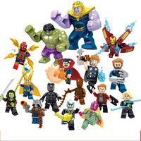 Wholesale super blocks resale online - New Styles Avengers Charactor Collection Doll Toys Super Hero cm ABS Block Boy Toys L122