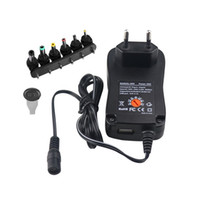 Wholesale 12v adapter uk for sale - Group buy Universal Wall Plug in Adaper W multi function power adapter Converter with V Voltage Adjustable Plugs US EU UK AU Standard