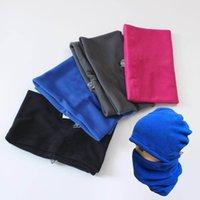 Wholesale people cap resale online - U A Hats Scarf Sets Winter Neckerchief Caps Suits Women Men Ski Cycling Reversible Fleece Beanies Scarves Outdoor Sports Scarfs Hat C92005