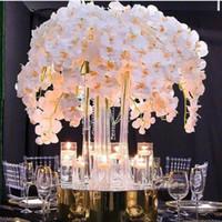 ingrosso farfalla di orchidea di falena artificiale-Vendita calda fiore di seta artificiale falena orchidea farfalla orchidea per la casa nuova casa decorazione di festival di nozze
