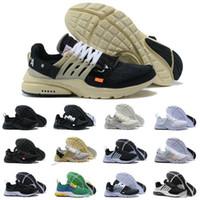 badminton original marke großhandel-2019 neue Nike Air max Presto airmax Off White Prestos shoes original v2 br tp qs schwarz weiß x laufschuhe günstige sport frauen männer designer marke trainer turnschuhe
