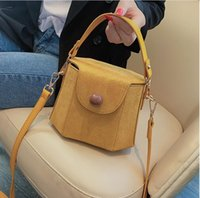 Wholesale lining bags resale online - Small bag female bag new autumn and winter trend line fashion style wild single shoulder slung portable bucket