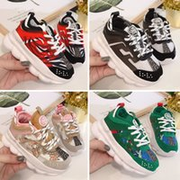 Wholesale pink shoes for children for sale - Group buy 2020 New Arrival Chain Reaction Casual Shoes For children Black White Pink Fashion Trainers running Sports kids Casual Sneakers
