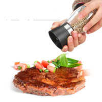 handschleifer für gewürze großhandel-Manuelle Glas Pfeffer Salz Gewürzmühle Hand Pfeffer Kräutermühle Hohe Qualität