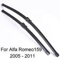 borracha para windscreen venda por atacado-Escovas para limpa-vidros de pára-brisas de Alfa Romeo 159 forma 2005 2006 2007 2008 2009 2010 2011 Car Windscreen wiper Rubber