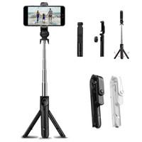 tripé vara venda por atacado-Tripé Selfie Vara Bluetooth 3.0 Controle Remoto Extensível Mini Monopé Handheld Dobrável Para iphone Samsung Smartphone Universal