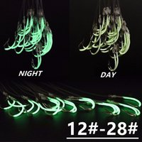 1 Pack 12#-28# Luminous Maruseigo Hook (With Fishing Lines) Barbed Fishing Hooks Fishhooks Pesca Fishing Tackle Accessories A-015