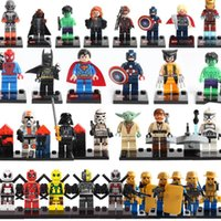mélange de blocs de construction achat en gros de-Jeux de construction mixtes Super héros Marvel Toys Captain America deadpool Batman thanos Hulk Ironman Superman Spiderman Ironman x-man