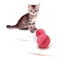 ingrosso cane di sfera leggera-2018 Pet Cat Toy Laser Divertente Palla Interactive Cat Laser Ball Giocattoli LED Flash Light Rolling Funny Balls Per Animali domestici Cani Gatti