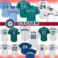b29173e5179 Wholesale robinson cano jerseys online - Seattle Ken Griffey Jr Custom  Mariners Baseball Jersey Ichiro Suzuki