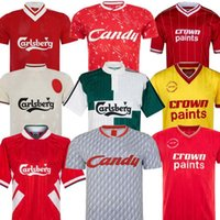 champions shirt achat en gros de-DALGLISH Retro Soccer Jersey Champion Gerrard 2005 Smicer Alonso 10 11 Chemises Football TORRES 82 89 91 85 86 Maillot Kuyt Keane 08 09 SUAREZ