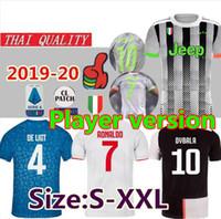 futbol formaları toptan satış-Fanlar Player sürüm 2019 2020 dördüncü RONALDO SARAYI futbol forması thai kalite 19 20 DE ligt DYBALA Futbol Maillot Futbol Gömlek boyutu S-2XL