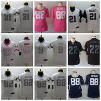 Wholesale 21 american football for sale - Group buy Women Prescott Jersey Dallas Elliott Vander Esch Cowboys Lawrence Game American football jerseys
