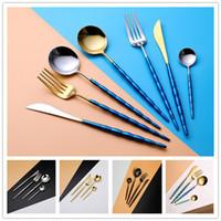 Wholesale tea kits resale online - Portugal Flatware Set Spoon Fork Knife Tea Spoon Cutlery Sets Dinnerware Kit Stainless Steel Dinnerware Set For Wedding Party Tableware