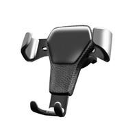 havalandırma cep telefonu tutacağı toptan satış-2019 Yeni Yerçekimi Araç Tutucu Telefon Araba Hava Firar Klip Dağı Için Hiçbir Manyetik Cep Telefonu Tutucu Cep Akıllı telefonlar Için Destek Standı