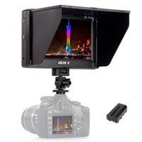 monitor para cámara dslr al por mayor-Envío gratuito 7 '' Clip-on TFT HD LCD 4K Cámara Monitor de video Pantalla HDMI AV Entrada para Canon Nikon DSLR BMPCC