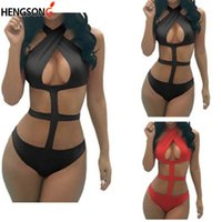 Wholesale suit bundles for sale - Group buy Sexy Underwear Hot Hollow Out Bandage Lace Dress Erotic Lingerie For Women Sexy Halter Siamese Bundle Temptation Suit Underwear
