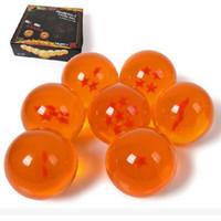 modelo laranja venda por atacado-Versão teatral Dragon Ball Modelo Mão Bolas De Cristal PVC Sete Estrelas Dragões Talão Crianças Brinquedos Laranja Resistência Ao Outono 28wh C1