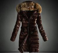 ingrosso cappuccio per donna-Piumino invernale donna lungo e corto Cappotto donna slim femminile Cappotto in pelliccia Parka Down Coat Abbigliamento Parka con cappuccio