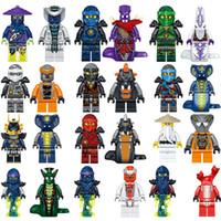 jay oyuncak toptan satış-2018 Yeni 24 adet Ninjagoinglys Ninja Usta Wu Kai Jay Cole Zane Lloyd Pythor Yılan Blokları Hediye Çocuk Oyuncakları Lele 31035 Film Insanlar Y190606