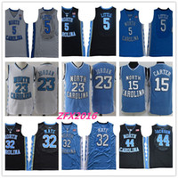 camiseta de baloncesto de carolina del norte 23 al por mayor-NCAA Carolina del Norte Tar Heels 5 Nassir Little 32 Luke Maye 15 Carter 23 Michael 44 Jackson College azul Camisetas de baloncesto Logos cosidos