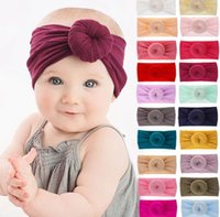 Wholesale nylon baby head bands for sale - Group buy Kids Baby Nylon head band Turban Nylon Headbands Knot Headband For Baby Girls Infant Turban Headwraps Toddler Hair Accessory KKA6374