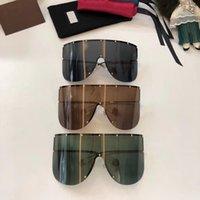 diseños de visión al por mayor-Gafas de sol de estilo exagerado especialmente diseñadas 0488 cuadrado grande Gafas de gama alta sin marco vanguardistas gafas anti-UV400 con estuche