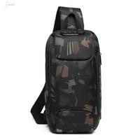 Wholesale mens travel shoulder bag resale online - Ozuko Mens Multi Function Messenger Bag Anti Theft Waterproof Travel Chest Bag High Quality Men Shoulder Bags