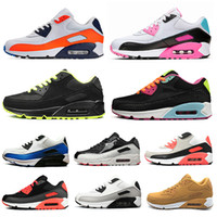 Wholesale womens summer flat shoes resale online - hotsale men women running shoes South Beach Infrared Triple Black White Neon Laser Fuchsia womens mens trainers Sports Sneakers