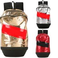 seyahat sırt çantası erkek çift omuz toptan satış-Açık Seyahat Çantası Sup Marka Sırt Çantası Kadın Erkek Wrap Çift Omuz Askısı Nefes Polyester Elyaf Altın Kırmızı 46cy C1
