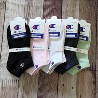 erkek çorapları toptan satış-Marka Şampiyonu Çorap Kadın Erkek Tasarımcı Ayak Bileği Çorap Halhal Low Cut Ekip Çorap Terlik Spor Çorap Tekne Çorap Sneaker Çorap C61305