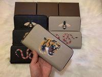 şekil cüzdan toptan satış-Zippy Wallet DİK para taşımak en şık yolu, kartları ve paralar ünlü tasarım erkekler kadın hayvan figürü deri çanta kartı