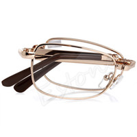 f8ea9d8b954e Wholesale diopter glasses online - 10pcs A40 New Unisex Women Men pc  Folding Metal Reading Glasses