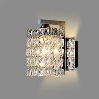 кристалл настенные лампы современные оптовых-светодиодный хрустальный настенный светильник Настенные светильники luminaria домашнего освещения гостиной современный настенный светильник абажур для ванной комнаты