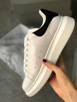 Wholesale red shining wedding shoes resale online - Top Designer Shoes GREY Shine Platform Shoes Mens Trainers White Leather Flat Casual Party Wedding Shoes Suede Sports Sneakers US