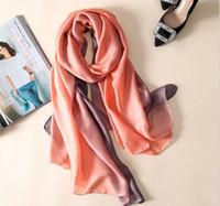 9465d0fd70cfc 2017 brand women silk scarf fashion solid spring Echarpe Smooth Summer Wrap  female Voile Luxury Scarves Foulard Beach cover-ups